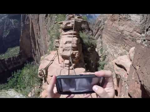 Zion National Park - Angels Landing hike GoPro World's most dangerous hike! - The best view!!