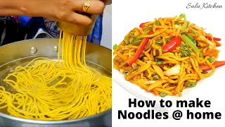 Home-made Wheat Noodles from Scratch | How to make Noodles at Home | Healthy Spicy | Salu Kitchen