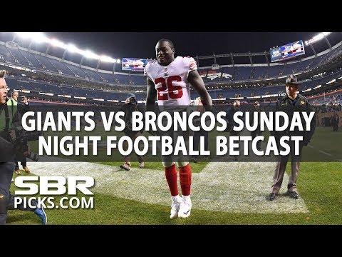 New York Giants vs Denver Broncos LIVE Sunday Night Football Betcast