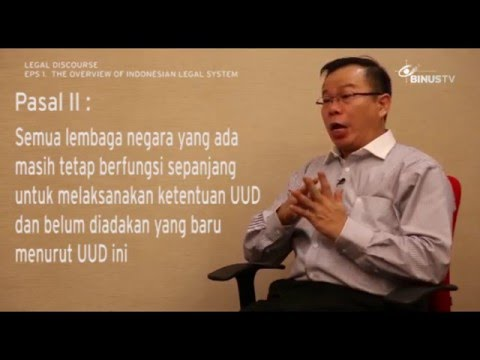 LEGAL DISCOURSE - The Overview of Indonesian Legal System