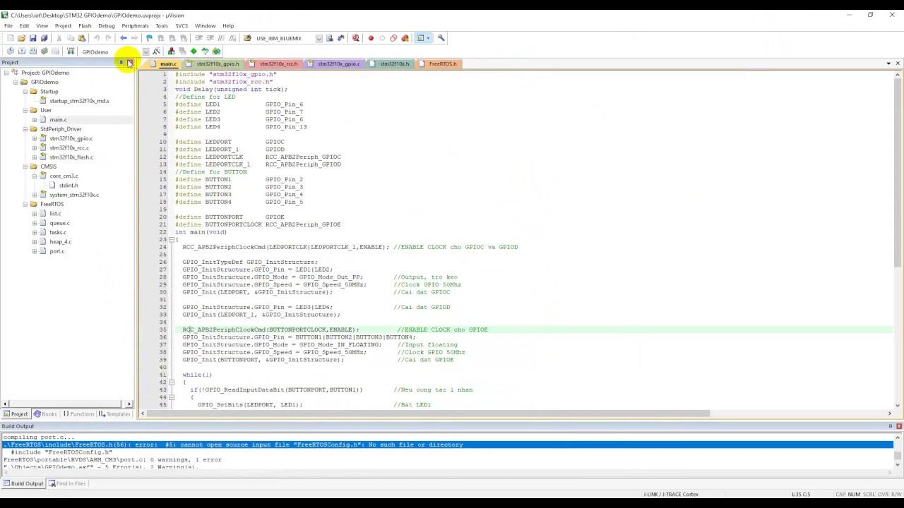 FreeRTOS STM32 Create Project Keil C