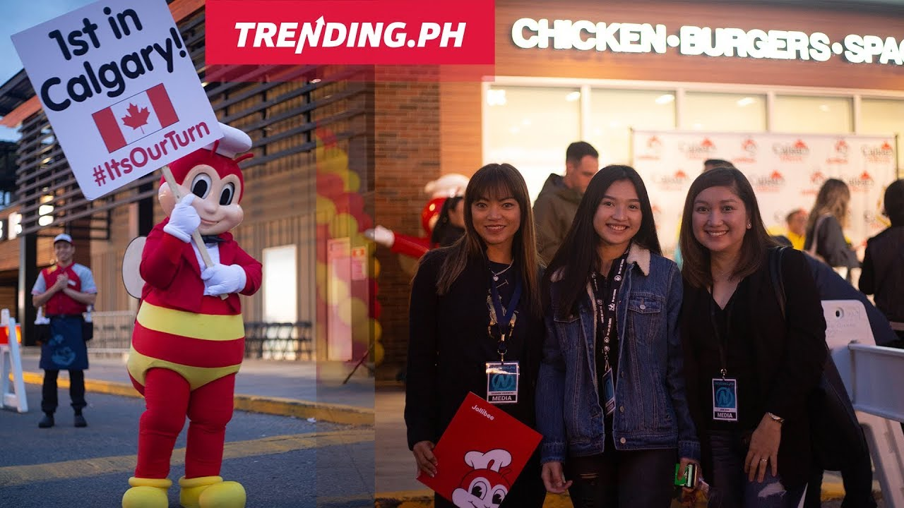 Jollibee Calgary Grand Opening with Trending.ph
