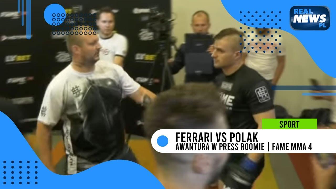 Adrian Polak vs Amadeusz Ferrari - AWANTURA po walce w Press Roomie! | FAME MMA 4