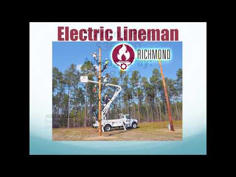 Electric Lineman Class at Richmond Community College