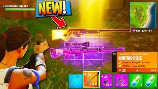 "NEW ""HUNTING RIFLE"" Fortnite GAMEPLAY! - NEW FORTNITE WEAPON! (New Fortnite Battle Royale Update)"