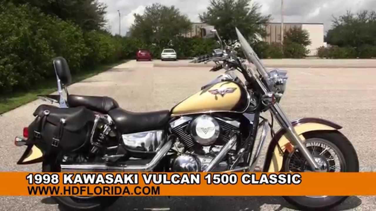 Used Kawasaki Vulcan 1500 Clic for sale in Tampa Fl - YouTube