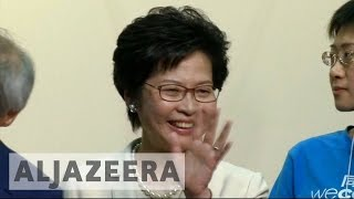 China-backed Carrie Lam elected Hong Kong leader
