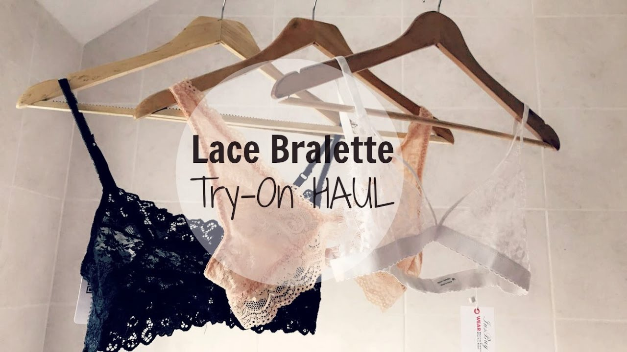 53ee9a5a69a HAUL affordable Lace Bralette try on   INSBUY - YouTube