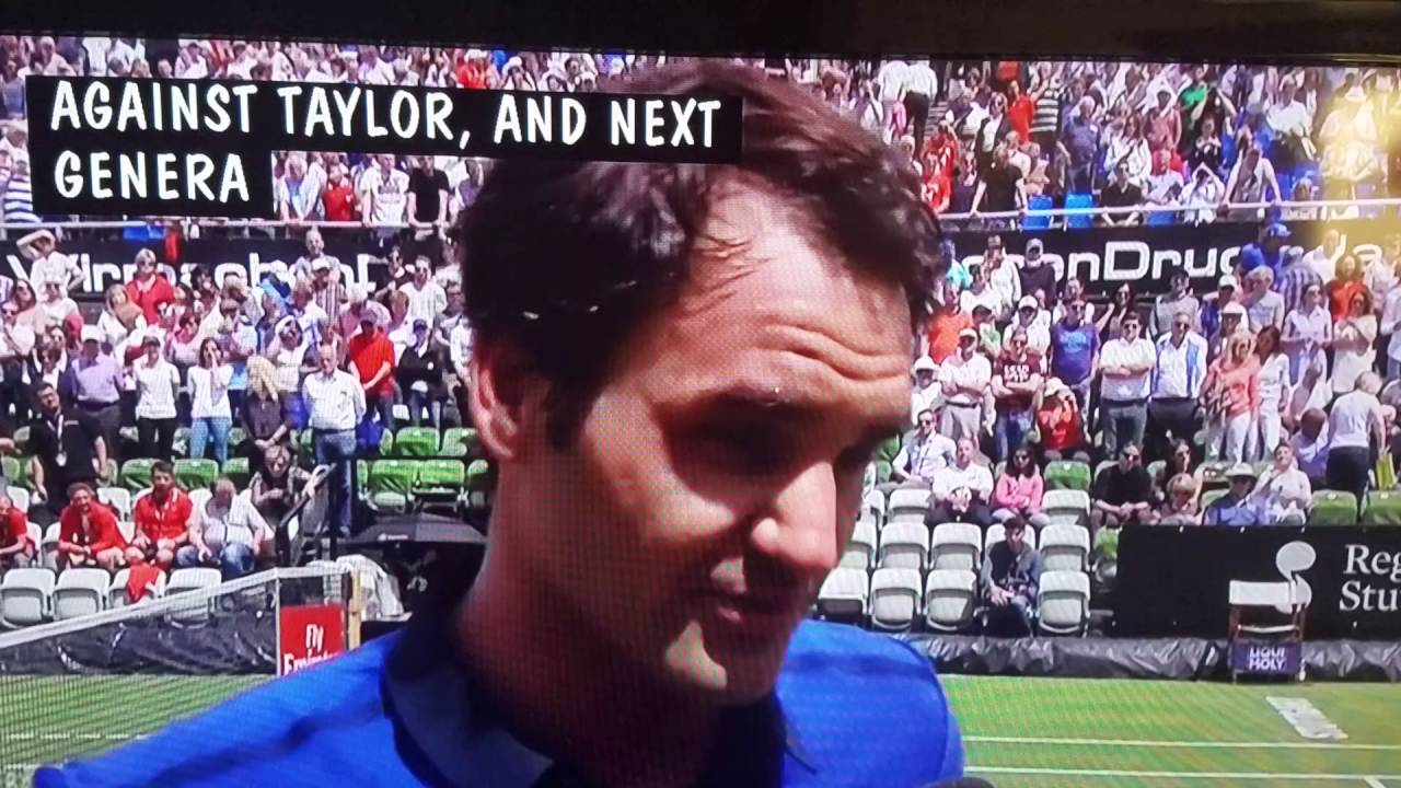 roger federer last point and interview mercedes open