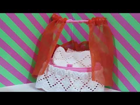видео: КРОВАТЬ С БАЛДАХИНОМ для куклы ЛОЛ// МЕБЕЛЬ ИЗ ШАРА//bed for dolls lol out of the ball