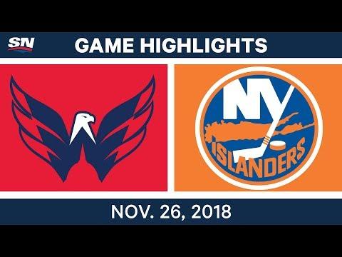 NHL Highlights | Capitals vs. Islanders - Nov 26, 2018