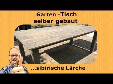 diy:-terrassen--tisch-/-gartentisch-selber-gebaut-(sibirische-lärche,-echtholztisch)