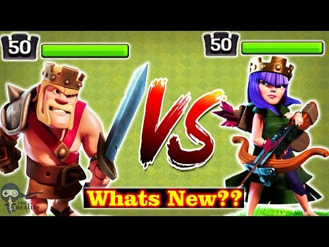 New Max Level 50 Heroes Barbarian KING And Archer QUEEN Clash Of Clans Gameplay