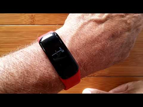 OLED Blood Pressure Reading Smart Bracelet: Unboxing and Rev