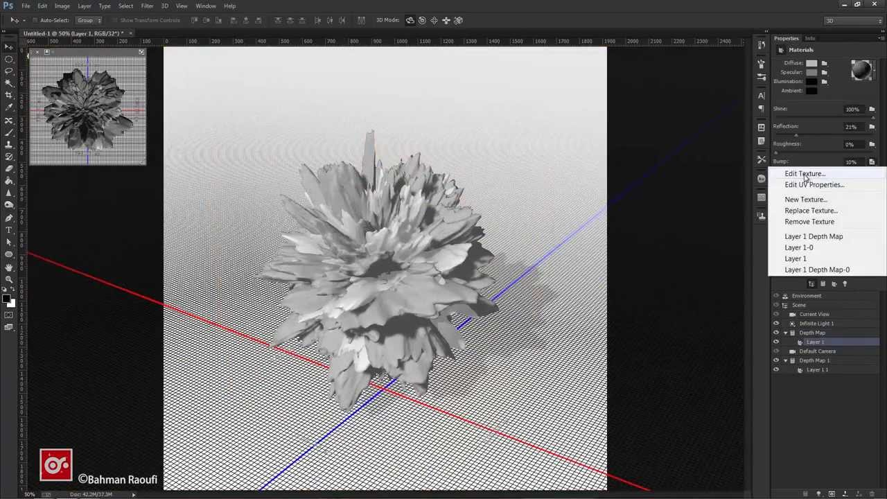 how to make something 3d in photoshop
