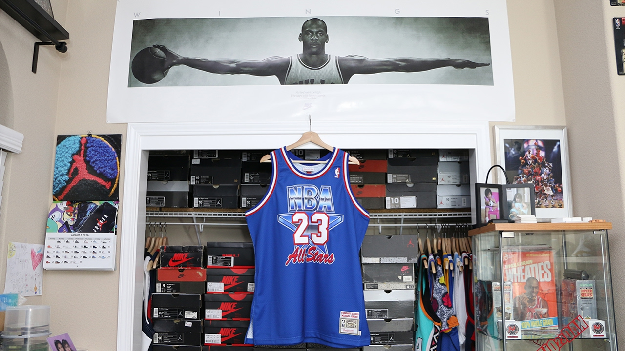 The 1993 Michael Jordan NBA All Star Game Jersey by Mitchell   Ness ... b105fb616