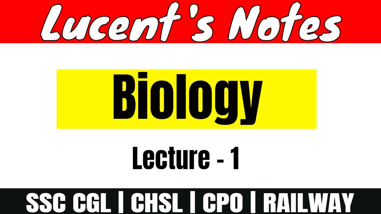 Lecture - 1 (Balanced Diet) | Biology - Lucent's Notes [IN HINDI]