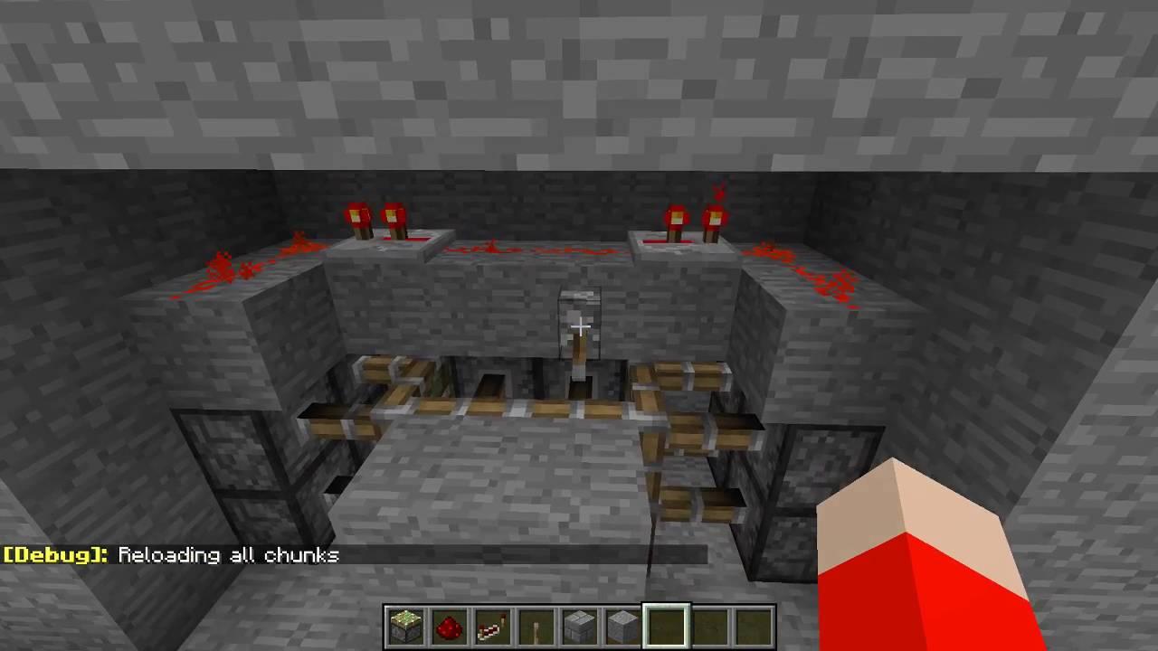 Minecraft How to Build a Classic Jeb Door Minecraft Redstone