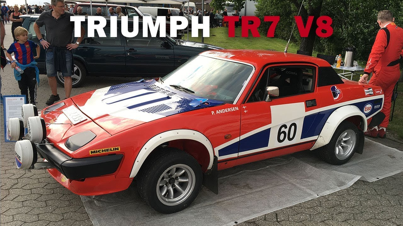Triumph Tr7 V8 Historical Rally Car Exhaust Sound Drift And
