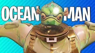 OCEAN MAN T-POSE | Fortnite Battle Royale