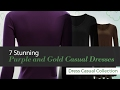 7 Stunning Purple and Gold Casual Dresses Dress Casual Collection