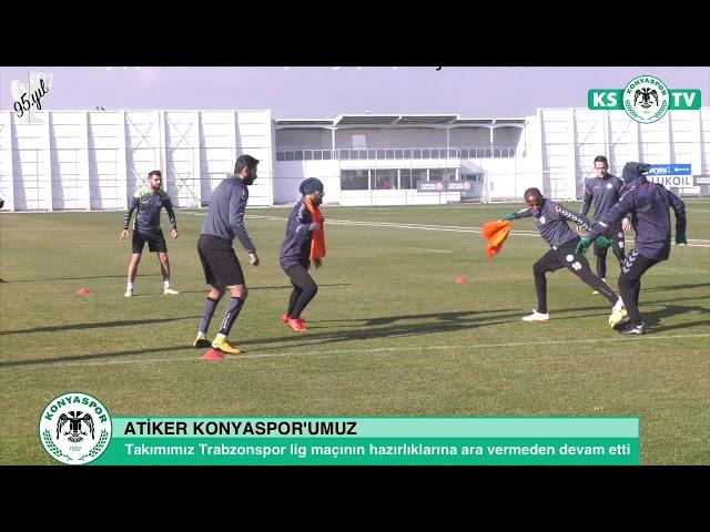Takımımız Trabzonspor lig maçı hazırlıklarına devam etti