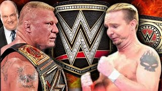 James Ellsworth vs Brock Lesnar - WWE Championship Match!