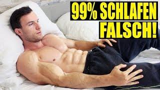 Kein Muskelaufbau ohne richtigen Schlaf! | So musst du schlafen!