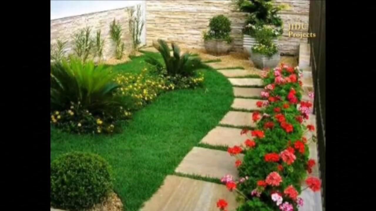 Garden Paving designs. Frontyard Pathway ideas. - YouTube