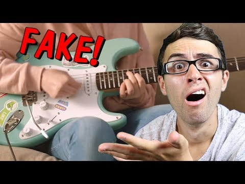 Guitar Playing In Commercial... FAKE!