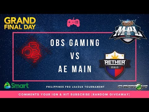 OBS Gaming vs AE Main | MPL-PH Finals + Giveaway