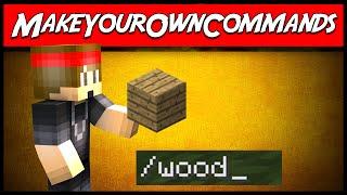 Minecraft | MakeYourOwnCommands (teleport, item, alias, & message!) | Plugin Tutorial