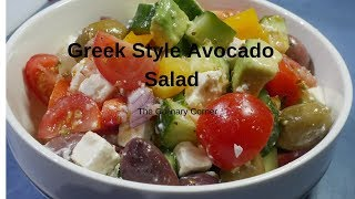 Greek Inspired Avocado Salad With a dressing