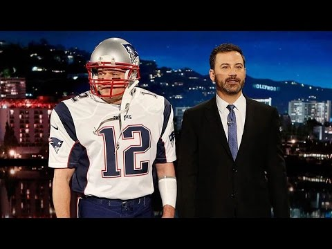 Watch Matt Damon Hilariously Crash 'Jimmy Kimmel Live' Dressed as Tom Brady!