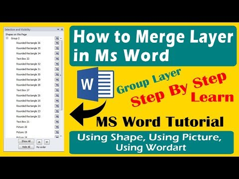 How to merge layer in ms word | Step by Step-How to Group in ms word | using shape, picture, wordart