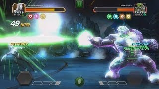 Spider-Gwen Vs Arc Overload Maestro - Act 4 Final Boss - Marvel Contest Of Champions 2017