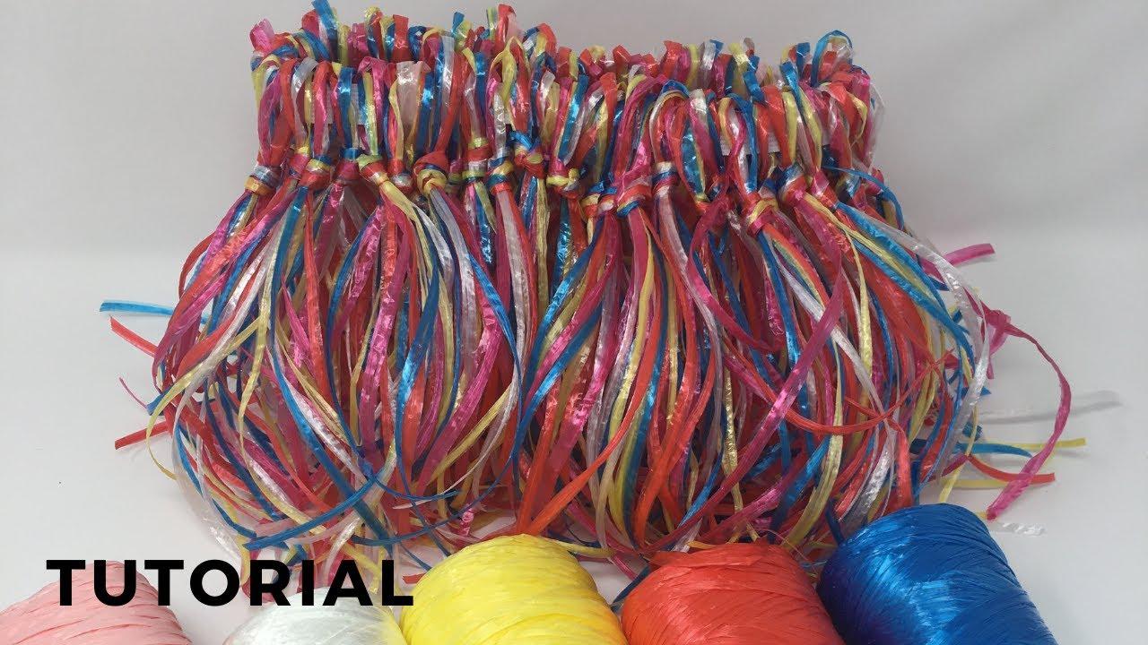 Gonnellino Hawaiano Fai da te in raffia colorata-Party hawaiano-Decorazioni  Festa di compleanno 5a7d5de6fe4f