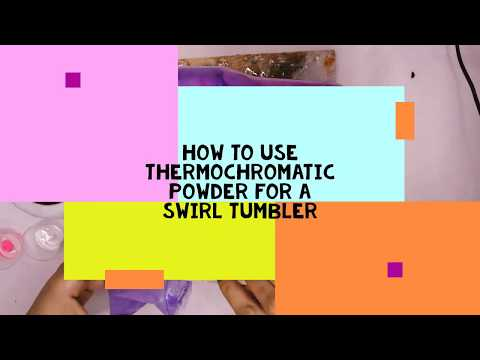 How to mix thermochromatic powder in epoxy for a swirl tumbler