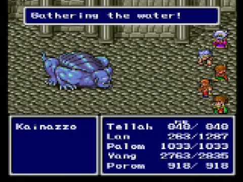 Final fantasy II (IV) snes boss #9: kainazzo/cagnazzo