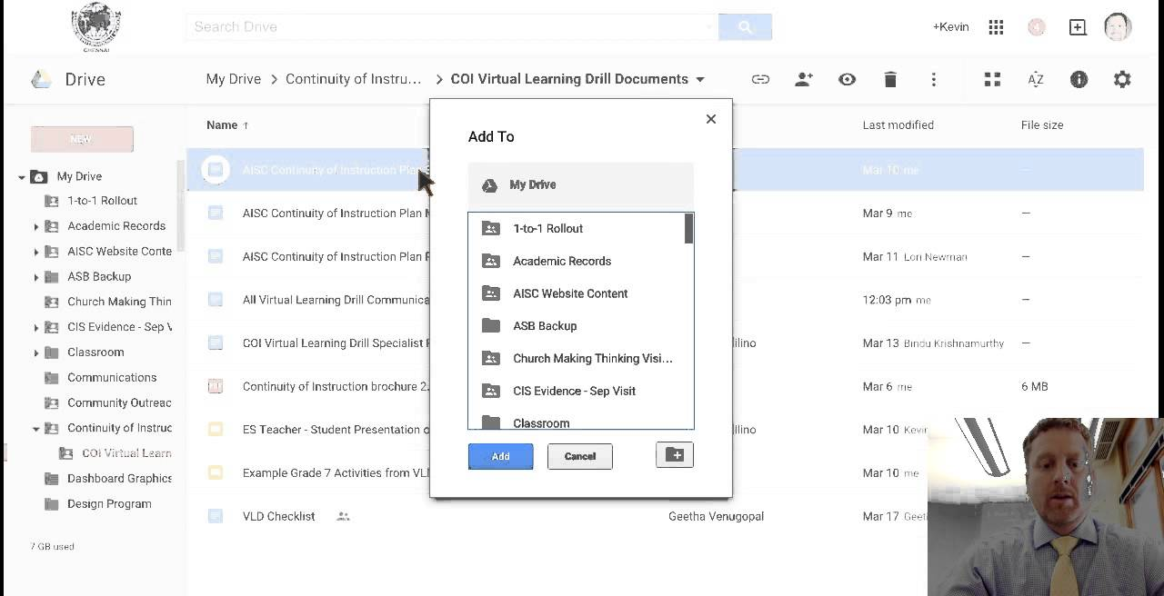 Shift+Z to Add Files to Multiple Folders in Google Drive