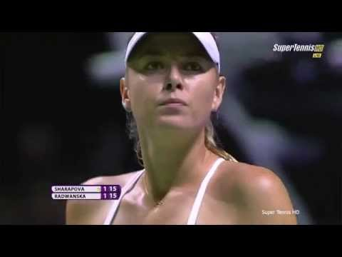 Maria Sharapova vs Agnieszka Radwanska Highlights Singapore 2015