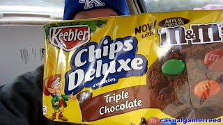 Reed Reviews Keebler Chips Deluxe Triple Chocolate Cookies With M&m's