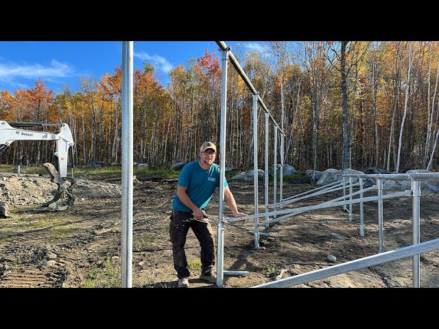 Building a HUGE Solar Array for Our OFF-GRID Tiny House in the WOODS (BIG enough to Power a FARM)