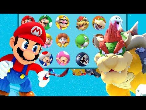 Mario Tennis Aces All Characters Unlocked and Mario Bowser Koopa Blooper + More