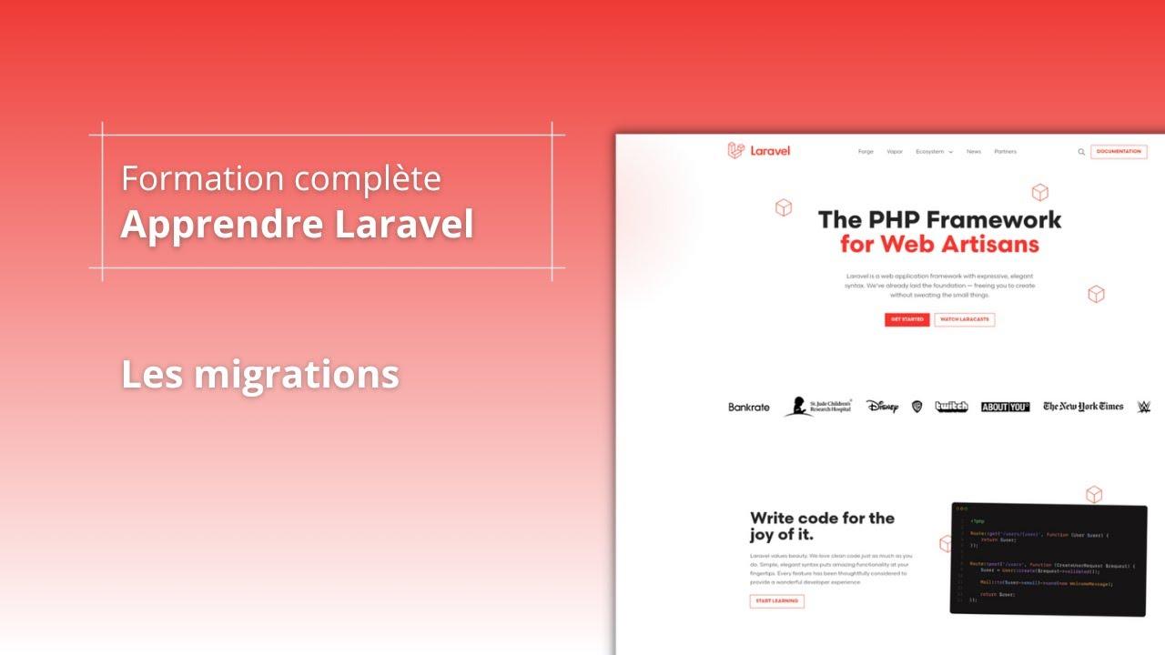 Apprendre Laravel 8 - Base de données - Migrations