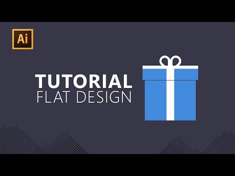 Infographics | Illustrator - Gift Big Box Flat Design Tutorial