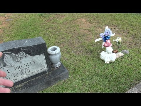 Elvis Priceville Cemetery Jesse Garon Grave Tupelo The Spa Guy