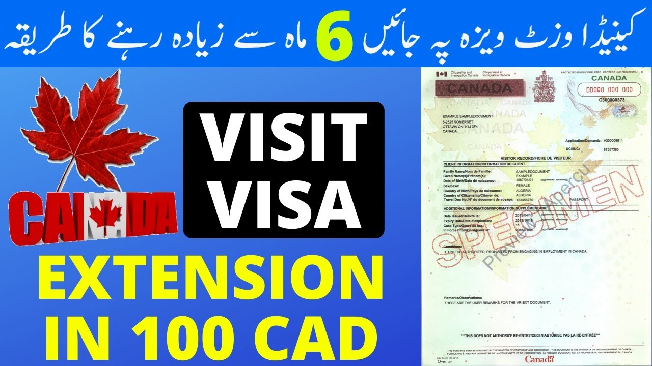 Canada Visitor S Visa Extension How To Stay Longer In Canada Canada Visitor Record Visa Guru Youtube