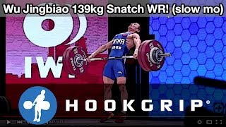Wu Jingbiao (56) - 139kg Snatch World Record Slow Motion