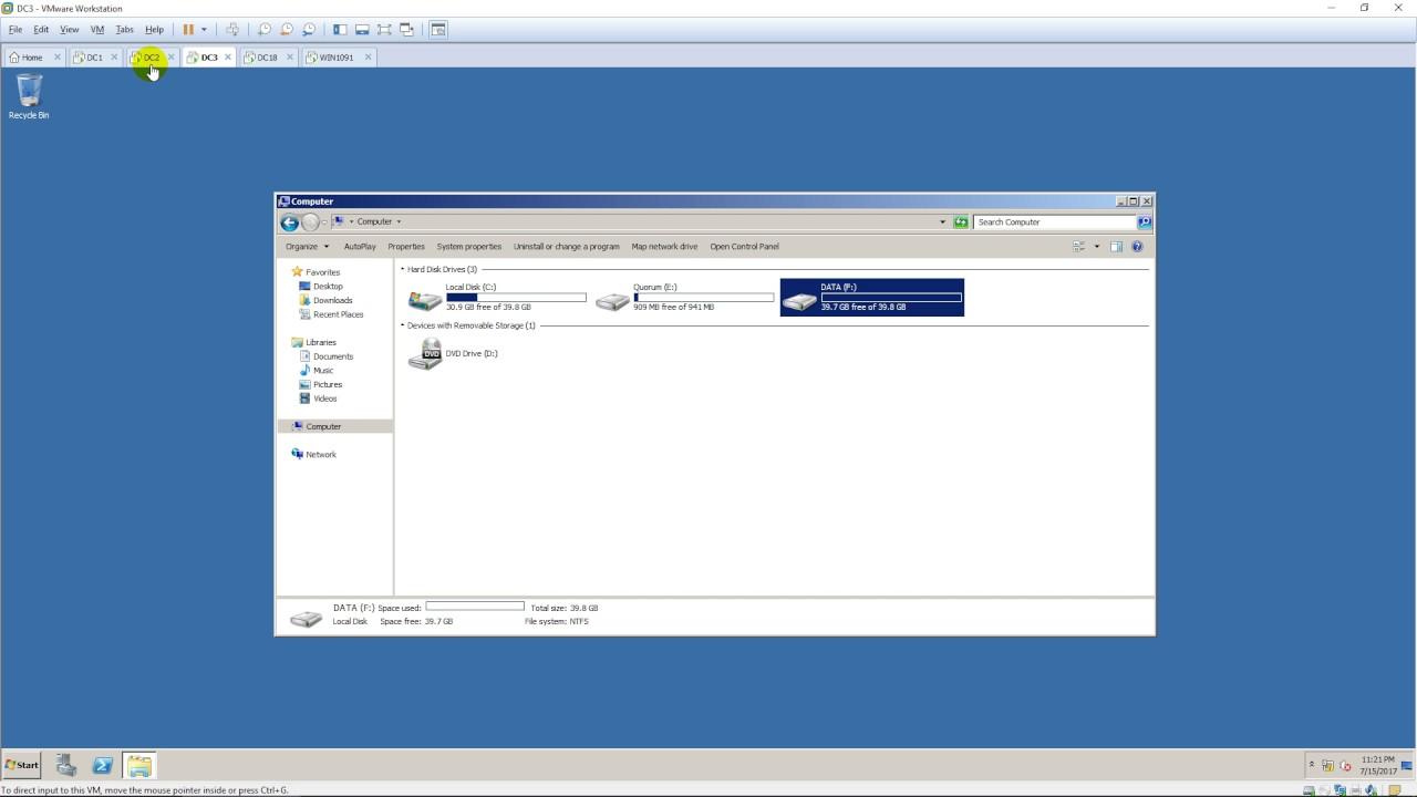 Configuring a file server failover cluster running Windows Server 2008 R2